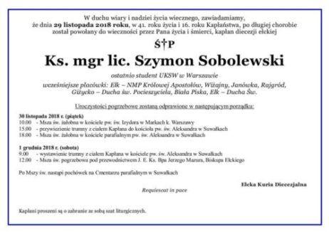 Ks. Szymon Sobolewski
